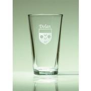 Irish Coat of Arms Pint Glasses Set of 4