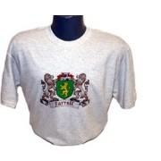 Irish Coat of Arms Tee Shirt Light Grey