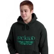 Irish Dragons Hooded Sweatshirt Forest Green