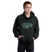 Irish Shamrock Applique Hooded Sweatshirt