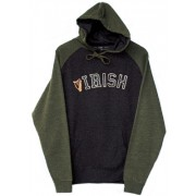Two Tone Irish Harp Hooded Irish Sweatshirt