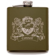 Irish Coat of Arms Flask Olive Green