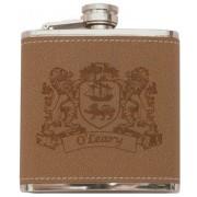 Irish Coat-of-Arms Leather Flask