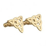 Irish Celtic Knot Gold Mens Cufflinks
