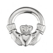 Irish Claddagh Tie Tack Sterling Silver