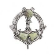 Connemara Marble Celtic Tara Brooch