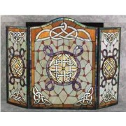 Multi Stained Glass Irish Celtic Fireplace Screen