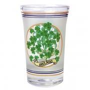 Frosted Shamrock Irish Shot Glass