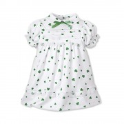 Girls Irish Shamrock Dress