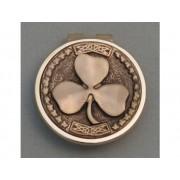 Gold Irish Shamrock Money Clip