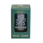 Harp Shamrock Irish Shot Glass