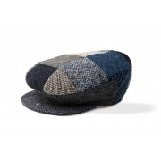 Mens Patchwork Tweed Irish Wool Cap