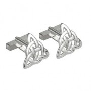 Irish Trinity Knot Silver Plated Mens Cufflinks