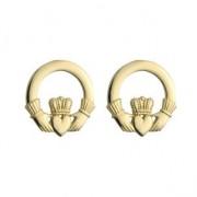 14k Gold Classic Claddagh Stud Earrings