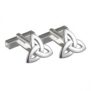 Irish Trinity Knot Sterling Silver Mens Cufflinks