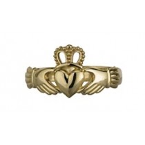 14k Gold Mens Irish Claddagh Ring
