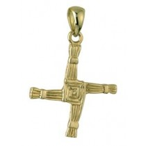 14k Gold Small St Brigids Cross Irish Charm