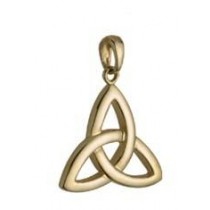 14k Gold Small Trinity Knot Irish Charm