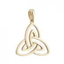 14k Gold Trinity Knot Irish Charm Open