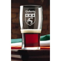 Irish Coat of Arms Tavern Glasses Set of 4