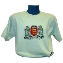 Irish Coat of Arms Tee Shirt Mist Green