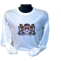 Irish Coat-of-Arms Long Sleeve Tee Shirt White