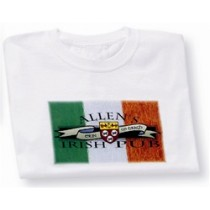 Irish Coat of Arms Pub Tee Shirt White