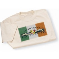 Irish Coat of Arms Pub Tee Shirt Natural