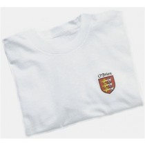 Left Chest Coat-of-Arms White Tee Shirt
