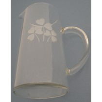 44 oz. Irish Water Pitcher Etched Shamrocks