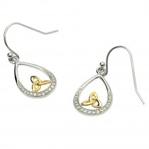 Trinity Knot Stone Set Earrings