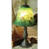 Multi Colored Handpainted  Irish Shamrocks  Lamp