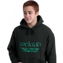 Irish Dragons Hooded Sweatshirt Forest Green