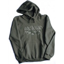 Irish Dragons Hooded Sweatshirt Olive Green