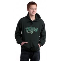Irish Shamrock Applique Hooded Sweatshirt
