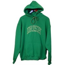 Irish Hooded Kelly Green Sweatshirt Irish Arc
