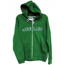 Ladies Kelly Green Hooded Irish Sweatshirt