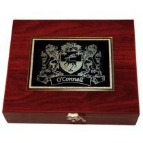 Irish Coat-of-Arms 5 pc Wine tools Box Set - Rosewood finish