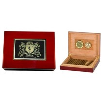 Irish Coat-of-Arms Cigar Humidor - Rosewood finish