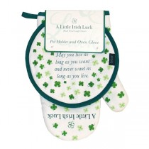 A Little Irish Luck Oven Glove and Pot Holder