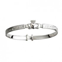 Baby Claddagh Bangle Bracelet