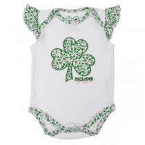 Baby Girl Irish Shamrock Onesie