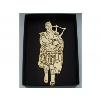 Scottish Bagpiper Door Knocker
