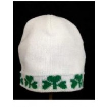 Irish Shamrock trimmed Acrylic Youth Cap