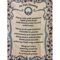 Claddagh Irish Blessing Throw Blanket