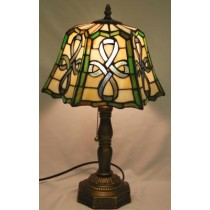 Multi Colored Irish Celtic Top Pleated Lamp
