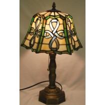 Multi Colored Irish Celtic Top Pleated Lamp
