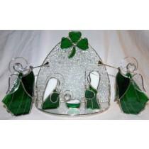 Irish Stained Glass Nativity Scene