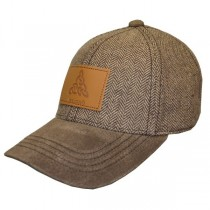 Brown Ireland Tweed Suede Peak Irish Baseball Cap