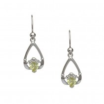 August-Peridot Birthstone Claddagh Earring